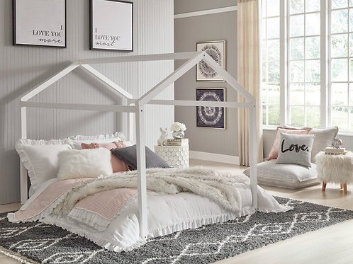 Flannibrook Full House White Bed Frame