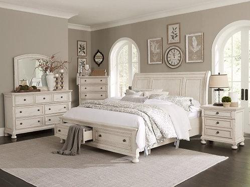 Bethel Antique White Queen Bedroom Set