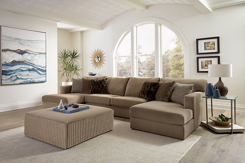 Carlsbad Carob 3-PC Chaise Sectional