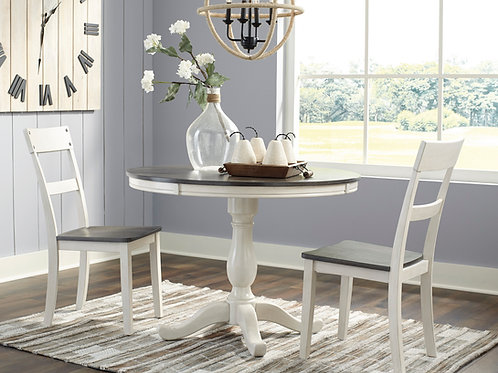 Nelling Two-Tone Dining Table & 2 Chairs