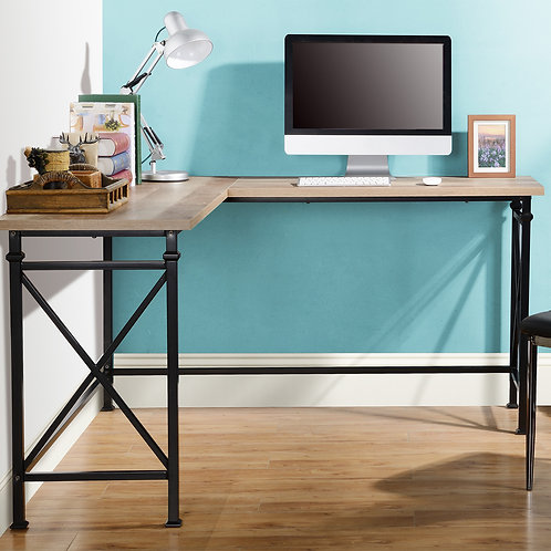 Jaeparli Two-Tone L-Desk