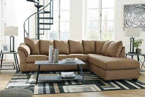 Darcy Mocha 2-PC Sectional