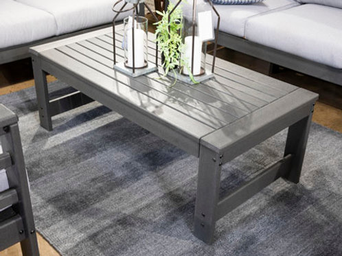 Amora Charcoal Gray Outdoor Coffee Table