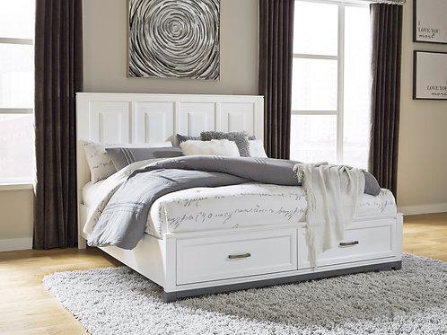 Brynburg White Queen Storage Bed