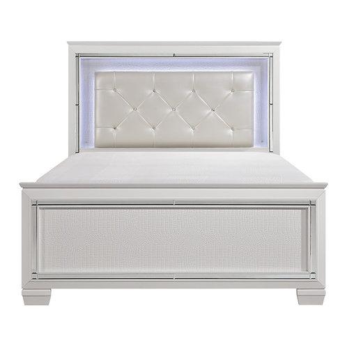 Allura White LED Queen OR Full Bed