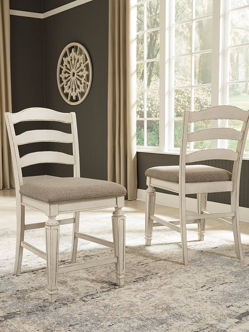 Realyn Set of Two  Upholstered Barstools