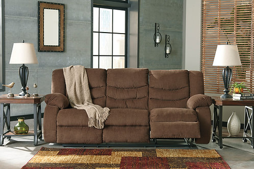 Tulen Chocolate Reclining Sofa