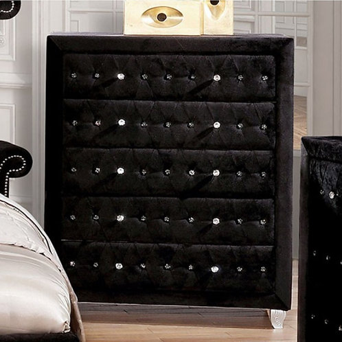 Alzire Black Tufted Chest