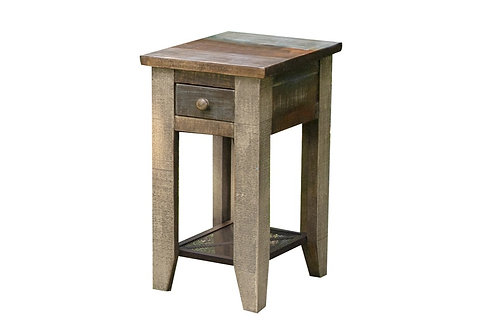 Antique Chairside End Table
