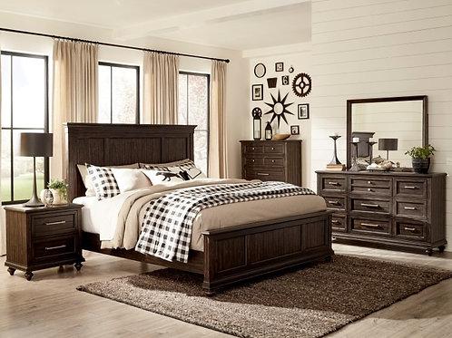 Cardano Dark Brown Queen Panel Bedroom Set