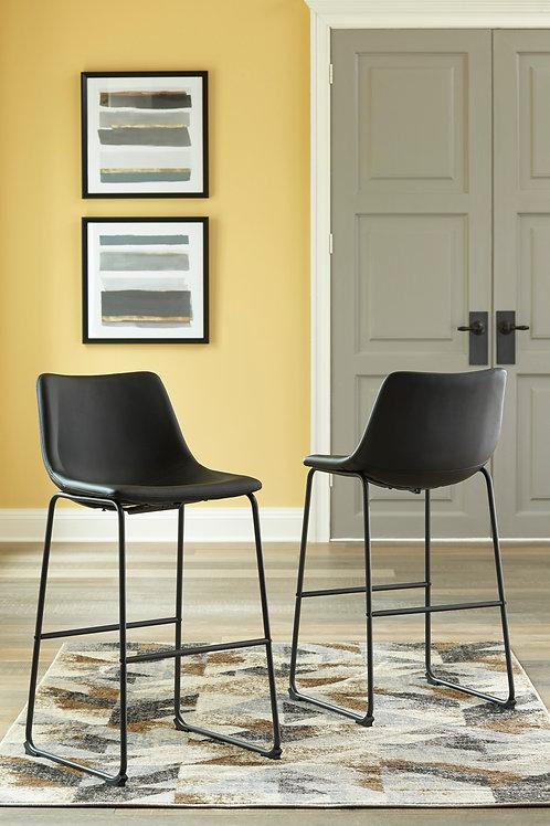 Centair Black Tall Upholstered Barstools
