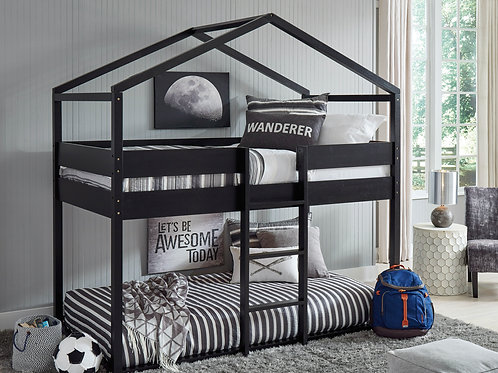 Flannibrook Full House Black Bed Frame