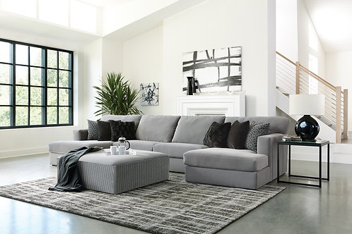 Carlsbad Charcoal 3-PC Chaise Sectional