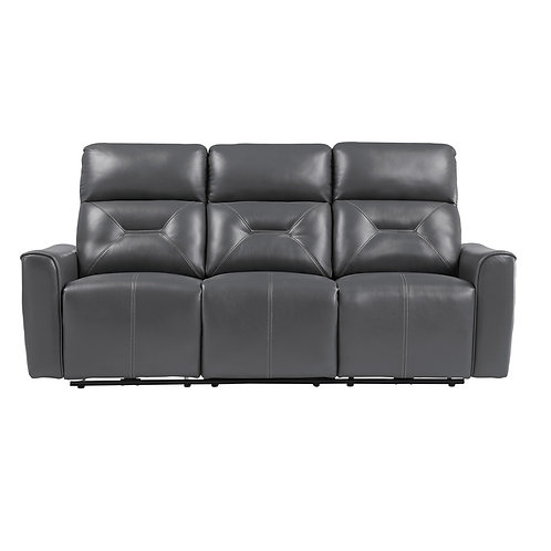 Burwell Dark Grey Power Reclining Sofa