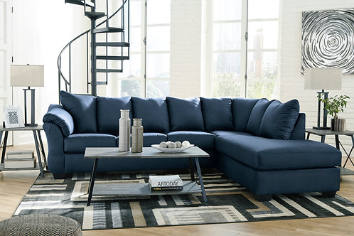Darcy Blue 2-PC Sectional