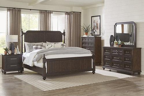 Cardano Dark Brown Queen Poster Bedroom Set