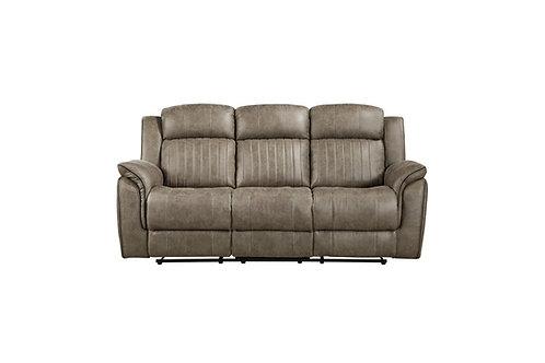 Centeroak Sandy-Brown Double Reclining Sofa