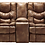 Thumbnail: Darshmore Almond Gliding Reclining Loveseat w/ Console