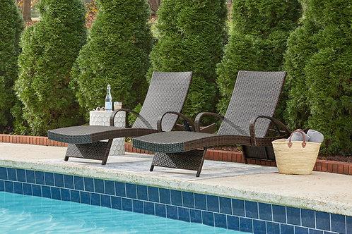 Kantana Brown Chaise Lounge Chairs