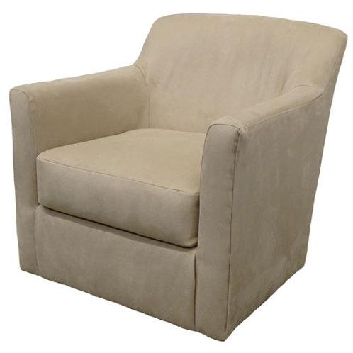 Bradney Linen Swivel Accent Chair