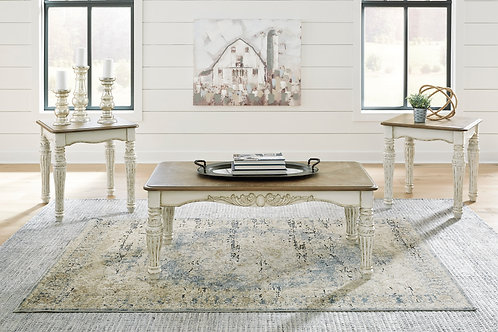Realyn Two Tone Occasional Table Set