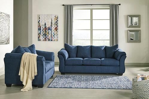 Darcy Blue Sofa OR Loveseat
