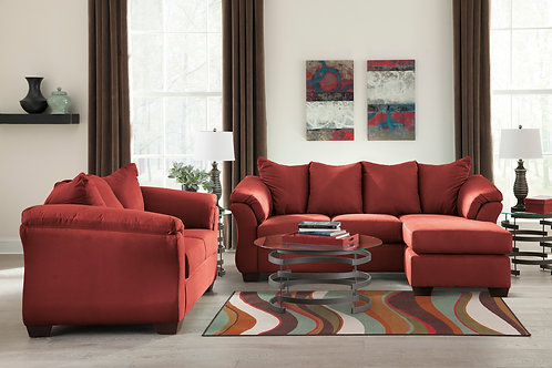 Darcy Salsa Sofa Chaise & Loveseat