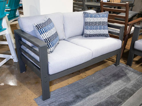 Amora Charcoal Gray Outdoor Loveseat