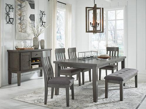 Hallenden Gray 6-PC Extension Dining Set