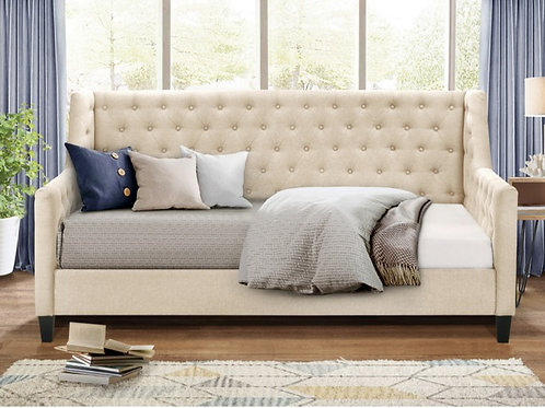 Beige Tufted Daybed