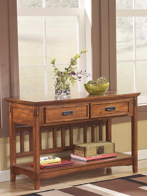 Cross Island Medium Brown Sofa/Console Table