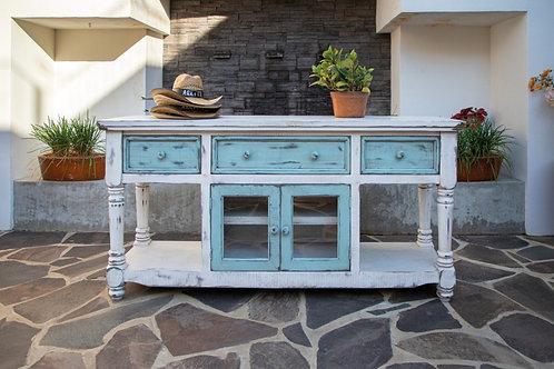 Aruba Sky White Two-Tone TV / Sofa Table