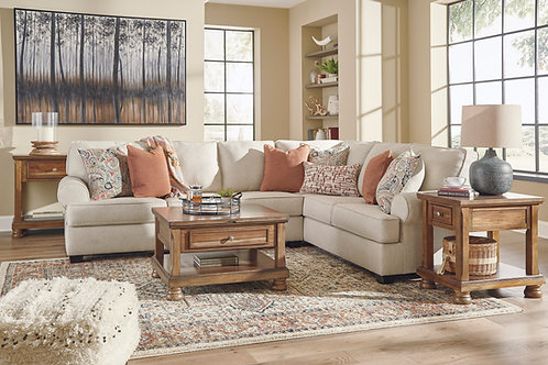 Amici Linen 3-PC RSF Sectional