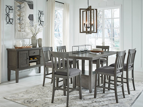 Hallenden Gray 7-PC Counter Height Extension Dining Set