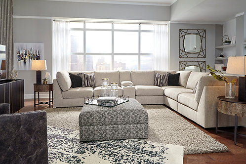 Kellway Bisque 7-PC Party Sectional w/ Console