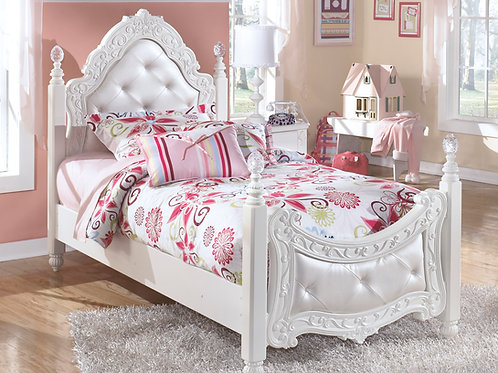 Exquisite Twin White Bed