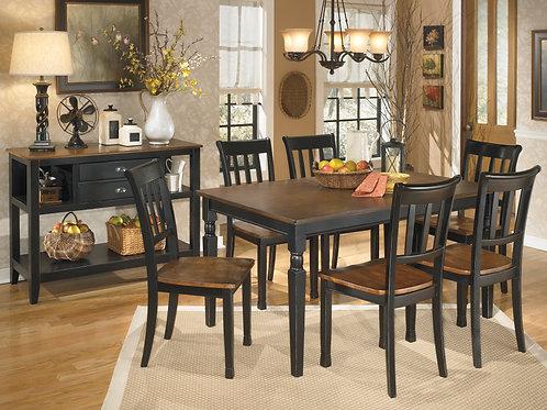 Owingsville Black/Brown 7-PC Dining Set
