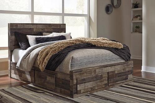 Derekson Multi-Gray Platform Storage Bed