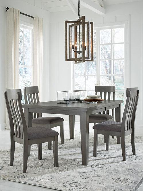 Hallenden Gray 5-PC Extension Dining Set