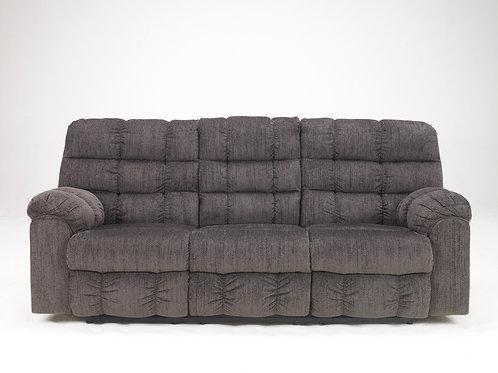 Acieona Slate Reclining Sofa w/ Drop Down Table