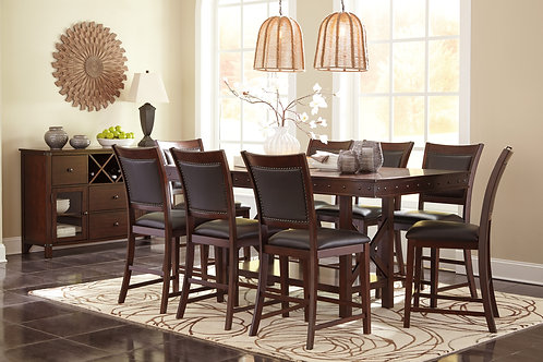 Collenburg Dark Brown Counter Height Table & 8 Chairs