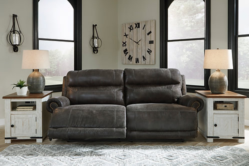 Grearview Charcoal Power Reclining Sofa w/ Adjustable Headrest