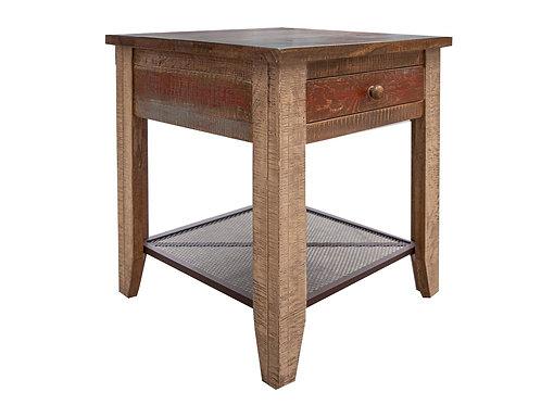 Antique Multicolor End table