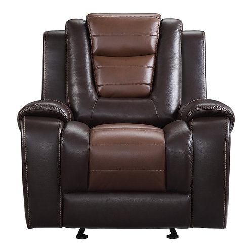 Briscoe Brown Faux Leather Glider Recliner