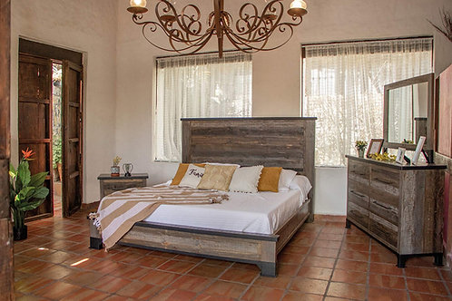 Antique Gray Panel Bedroom Set