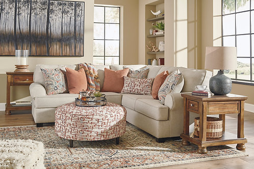 Amici Linen 2-PC RSF Sectional