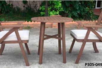Vallerie Dark Brown Outdoor Furniture Set