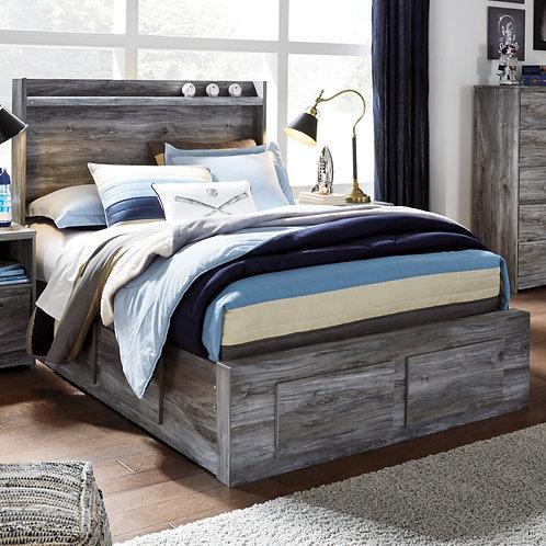 Baystorm Youth Gray Storage Bed