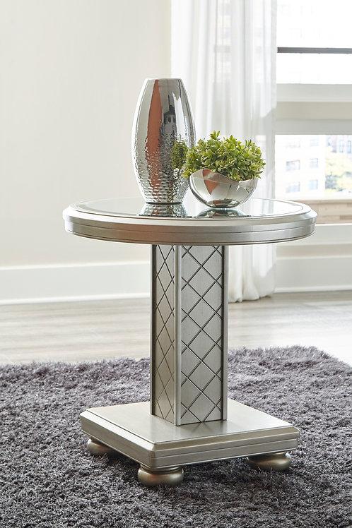 Chevanna Platinum Round End Table