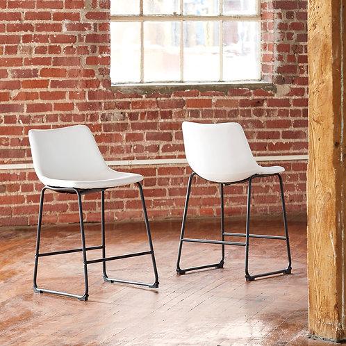Centair White Upholstered Barstools